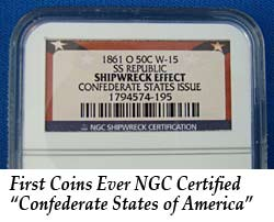First Coins Ever NGC Certified