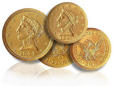 Grouping of shipwreck Liberty Gold Coins
